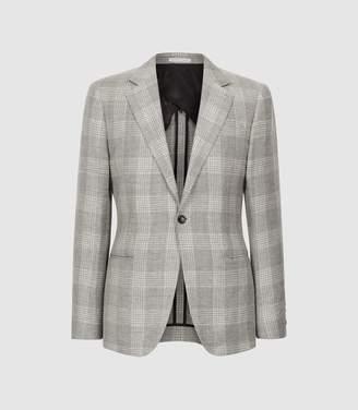 Reiss Austin - Checked Slim Fit Blazer in Grey
