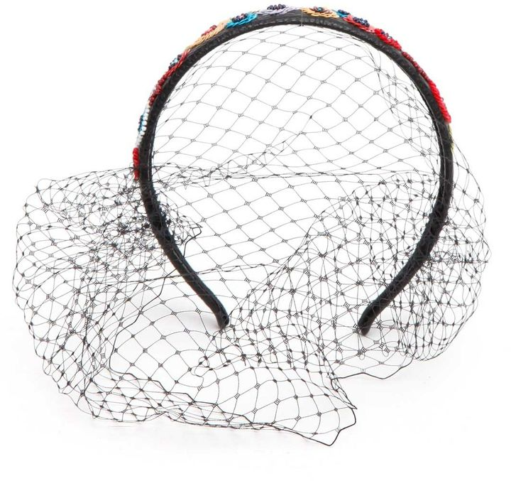 RED ValentinoRed Valentino Floral Sequin Netted Hair Band