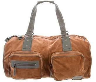 Balenciaga Suede & Leather Zip Tote