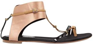 Vionnet Beige Leather Sandals