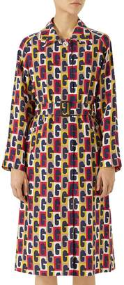 Gucci G-Sequence Print Trench Coat
