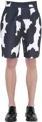 Neil Barrett Cow-Flage Printed Neoprene Shorts