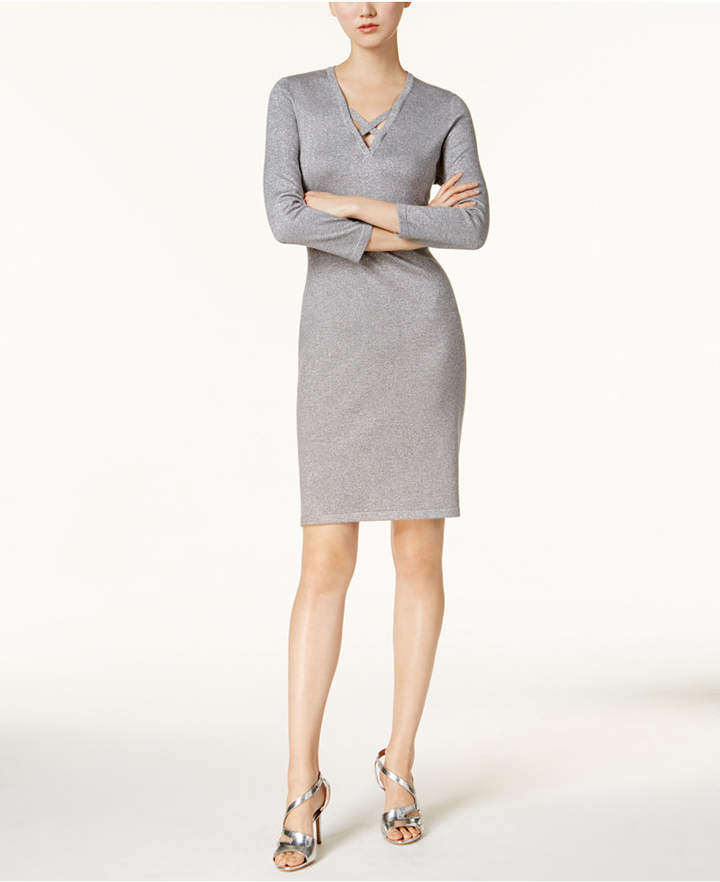 Calvin Klein Metallic Sweater Dress, Regular & Petite
