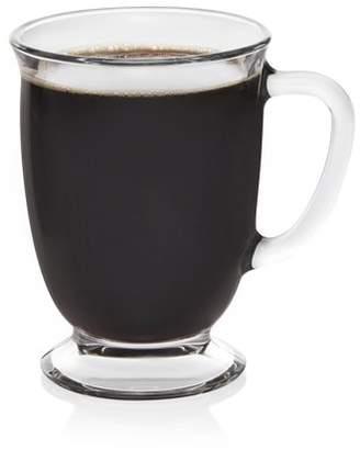 Libbey Kona Glass Coffee Mugs, Set of 6