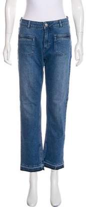 Anine Bing Mid-Rise Straight-Leg Jeans w/ Tags