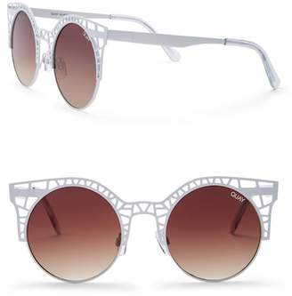 Quay Fleur 55mm Cat Eye Sunglasses