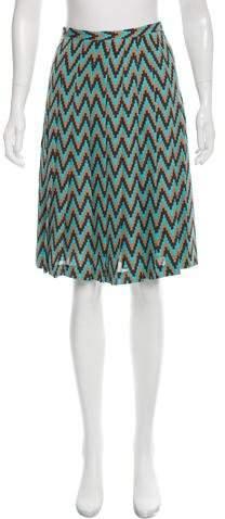 Michael Kors Chevron Silk Skirt