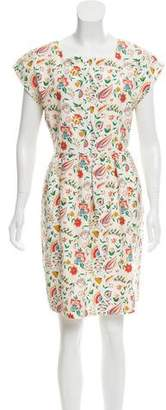 Steven Alan Silk-Blend Floral Print Dress
