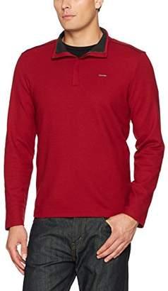 Calvin Klein Men's Long Sleeve Jacquard 1/4 Zip Knit