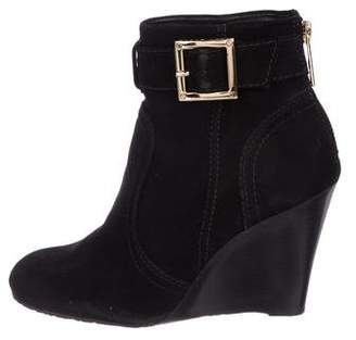 Tory Burch Suede Deanna Ankle Boots