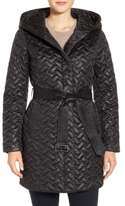 Women's Cole Haan 'Thermore' Water Repellent Quilted Coat $500 thestylecure.com