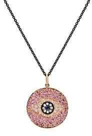 Ileana Makri Women's Dawn Eye Pendant Necklace-Rose Gold