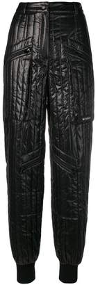 Misbhv quilted high-waist trousers