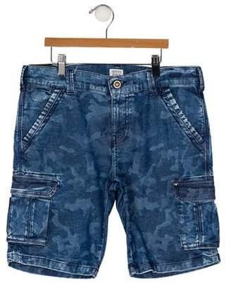Armani Junior Boys' Camouflage Knee-Length Shorts