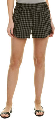 James Perse Tie-Front Wool-Blend Short