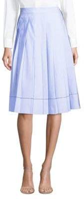 Piazza Sempione Stripe Pleated A-Line Skirt