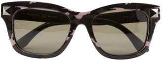 Valentino Khaki Plastic Sunglasses
