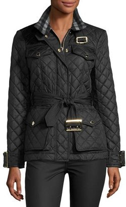 Burberry Haddingfield Quilted Jacket, Black $850 thestylecure.com