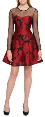 Guess Floral Fit-&-Flare Dress