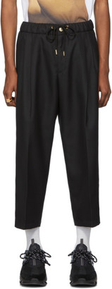 Versace Black Twill Trousers