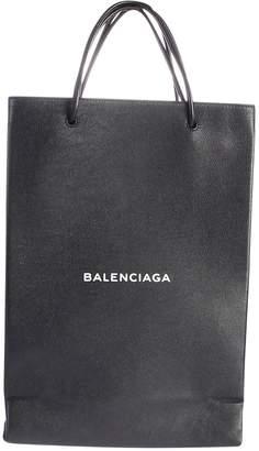Balenciaga Black Branded Shopper Bag