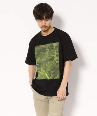 AKM (エイ ケイ エム) - RAWLIFE AKM Contemporary/エイケイエム/line camouflage print wide t-shirts