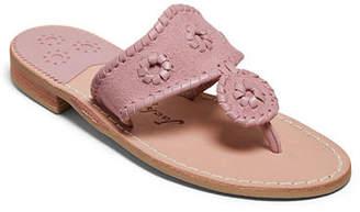 Jack Rogers Jacks Suede Flat Slide Sandals
