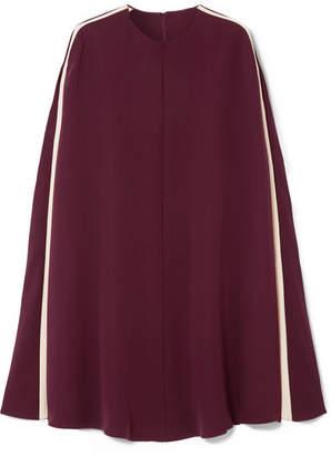Valentino Cape-effect Silk-blend Mini Dress - Burgundy