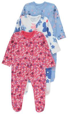 George Floral Sleepsuits 3 Pack