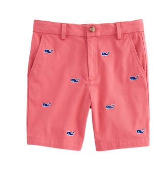 Vineyard Vines Boys Whale Embroidered Breaker Shorts
