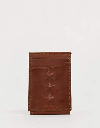Tommy Hilfiger 3 star leather wallet in black