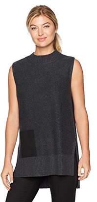 Design History Women's Faux Suede Pocket Sweater