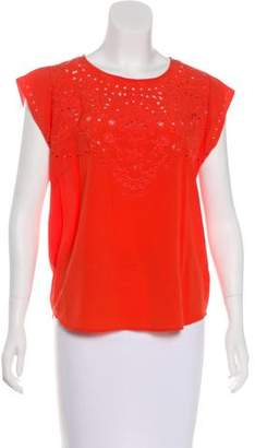 Veronica Beard Silk Embellished Top