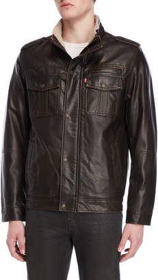 Levi's Faux Leather Utility Jacket