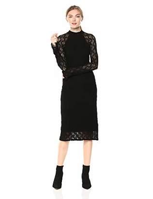 Only Hearts Women's Stretch Lace Mock Neck Dress