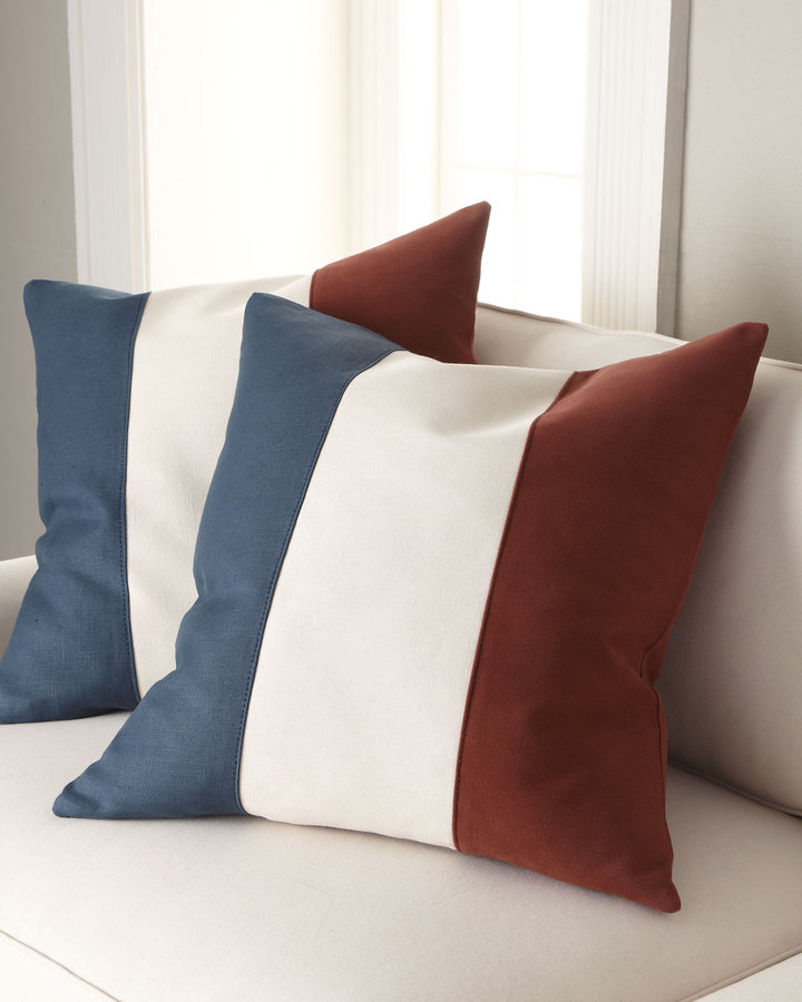 Old Hickory Tannery Striped Pillow Group