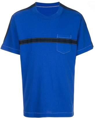 Sacai stripe detail T-shirt