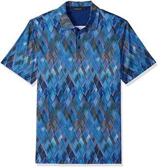 Bugatchi Men's Shaped Fit Short Sleeve Fashion Printed Polo