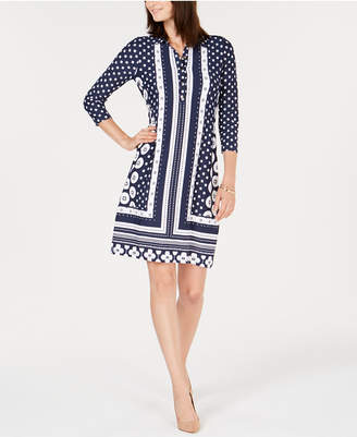 Charter Club Petite Collared Shift Dress