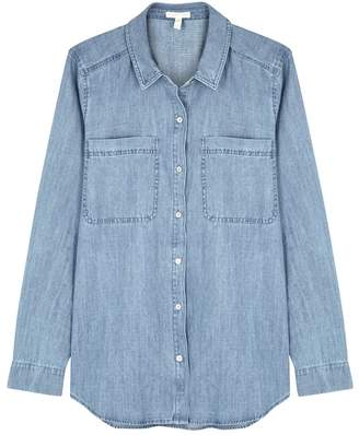 Eileen Fisher Light Blue Organic Cotton Shirt
