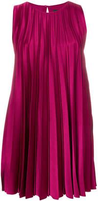 Paule Ka pleated flared mini dress