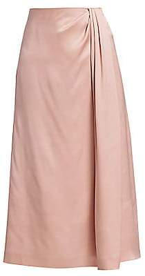 Loro Piana Women's Greta Silk Satin Skirt