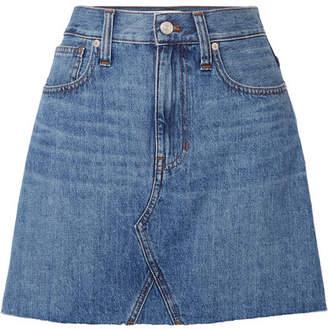 Madewell Frisco Distressed Denim Mini Skirt - Mid denim