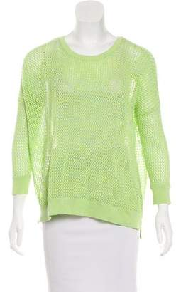 Autumn Cashmere Open Knit Crew Neck Sweater