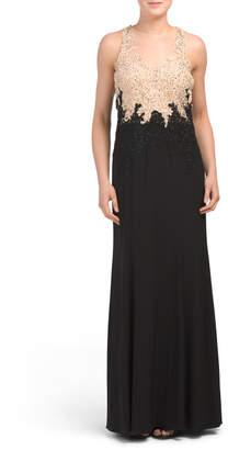 bcc81ea6b3fa6 Black And Tan Evening Dress - ShopStyle