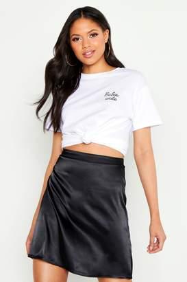 boohoo Tall Satin Mini Skirt