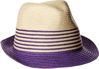 Physician Endorsed Women's Sammy D Two-Toned Packable Fedora Sun Hat, Rated UPF 50+ for Max Sun Protection