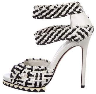 Camilla Skovgaard Woven Leather Platform Sandals