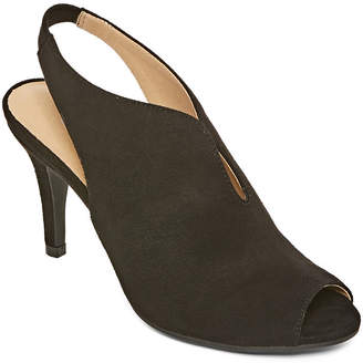 CL BY LAUNDRY CL by Laundry Womens Maya Elastic Peep Toe Stiletto Heel Pumps