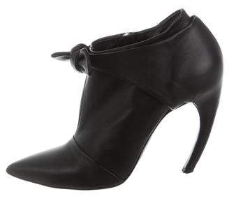 Proenza Schouler Leather Bow Boots